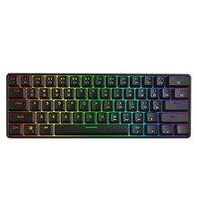 GK61 Swappable 60% RGB клавиатура заказной комплект PCB Монтажная пластина чехол геймерская механическая клавиатура игровая RGB клавиатура
