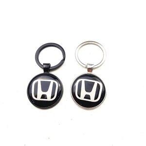 1pcs Key Holder Gift Key Chains Keyrings CRV Protection Sticker for Honda Civic City Accord Odyssey Spirior Carbon Fibre 7cm