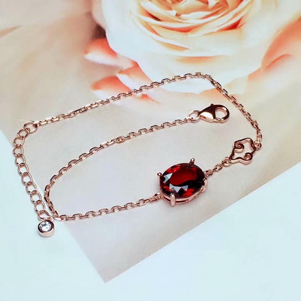 Shilovem 925 bracelet en argent sterling avec lien grenat bijoux fins classique femmes plante cadeau nouvel anniversaire ml0810666ags