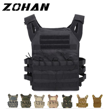Military Tactical Paintball Camouflage Molle Outdoor Clothing Hunting Vest Assault Shooting Plate Carrier With Holster
