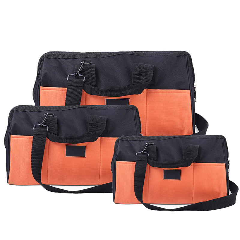 14/16/18 Inch Waterproof Molded Base Large Capacity Pouch Tools Storage Bags Oxford Fabric Professional Single Shoulder Tool Bag