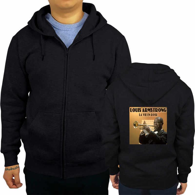 Louis Armstrong hoody caz trompetçi müzisyen erkek hoodie kral Oliver Casual erkek marka hoodies sbz6448