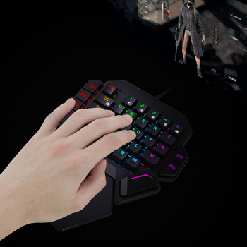 RedThunder One-Handed Mechanical  Keyboard RGB Backlit 35 Keys Portable Mini Keyboard Work for PS4,Xbox One,Laptop,PC Game 6