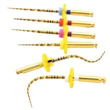 Dental gold flexible dateien endo rotary dateien goldene endodontie dateien 25mm nickel titainium instrument zahnmedizin