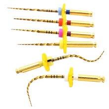 Dental  gold flexible files endo rotary files golden endodontic files 25mm nickel titainium instrument dentistry