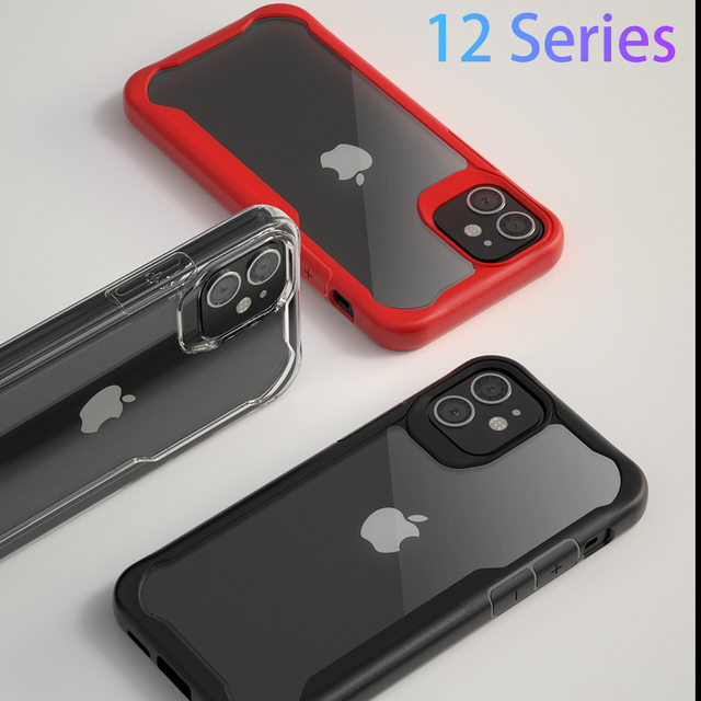 Phone Case for Apple iphone 12 pro 12pro max Cover Protective aphone ifone i 12promax i12 i12pro iphon Silicone Shockproof Coque