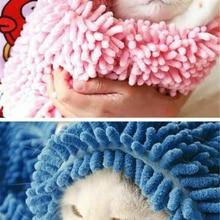 Домашнее мягкое теплое банное полотенце для домашних животных быстрое высыхание водопоглощение для собак халат для кошки уход за шерстью полотенце для удаления воды