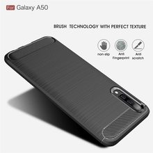 Carbon Fiber Soft TPU ShockProof Cover For Samsung Galaxy A7 A5 A3 A6 A8 Plus A9 J3 J4 J5 J6 J7 J8 2017 2018 J530 J330 J730 Case(China)