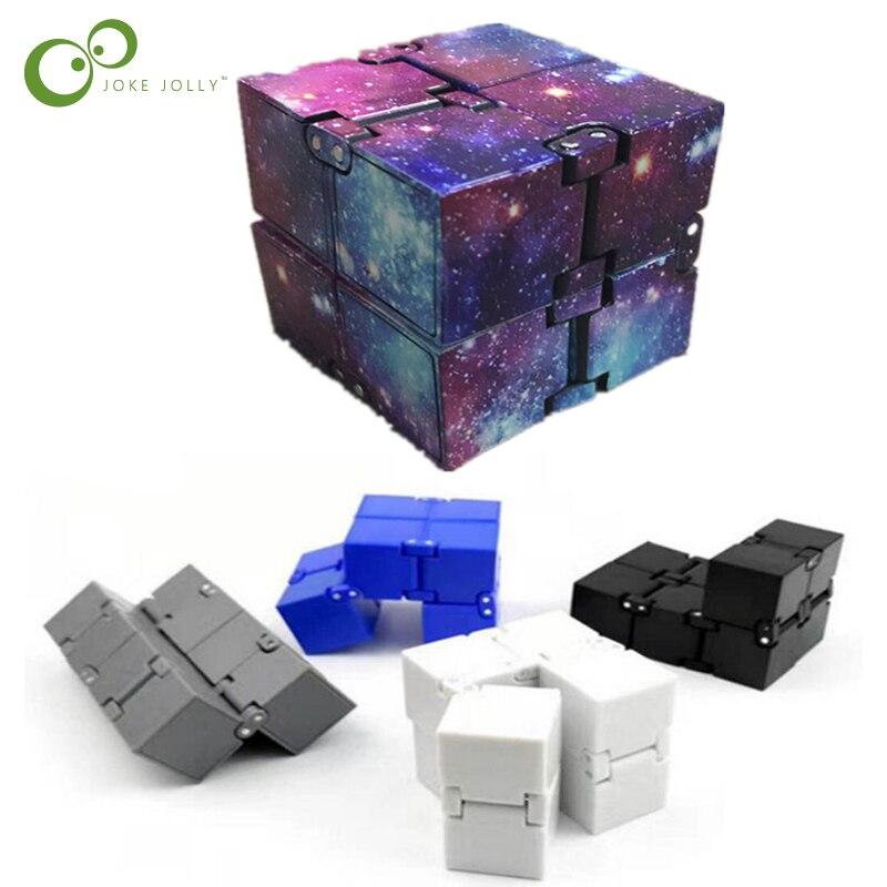 New Metal EDC Infinity Magic Cube Blocks For Stress Relief Fidget Anti Anxiety