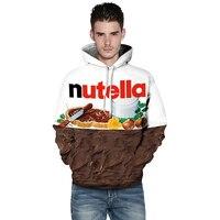 Lyprerazy Женская/мужская толстовка с принтом Nutella еда хип-хоп Повседневный стиль Топы Новый модный бренд пуловеры 3D толстовки