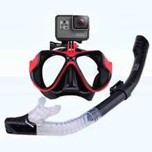 Snorkeling Mask Snorkel Tube Set Diving Mask Anti-Fog Swimming Diving Goggles Snorkel Tube For GoPro Underwater Sports Camera 2018 hot anti fog swimming diving snorkeling full face mask surface scuba for gopro s m child type