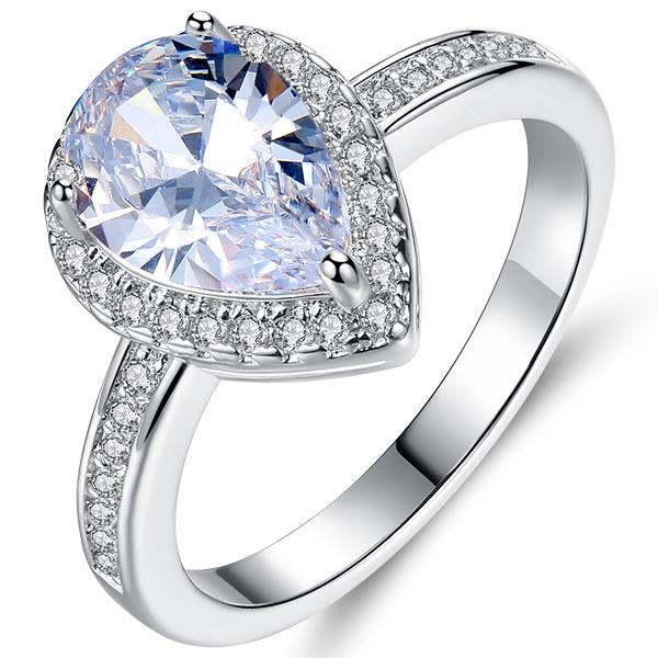 Горячая Распродажа, дизайн, роскошное большое овальное CZ кольцо золотого цвета, обручальное кольцо, хорошее ювелирное изделие для женщин, ювелирных изделий - Цвет основного камня: 5