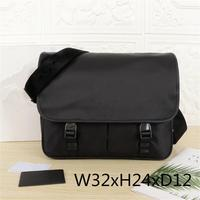 Men's bag nylon bag small waterproof diagonal bag men's black zipper business bag