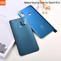 Xiaomi Mi 8 Mi8 Original-funda trasera para Xiaomi mi 8, repuesto de funda trasera con Logo para Mi 8 y mi 8