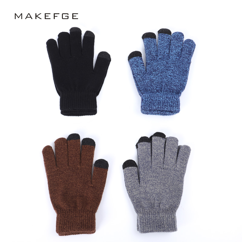 2019 New Men And Women Knitted Gloves Touch Screen Non-slip Gloves Autumn And Winter All Refers To High Quality Non-slip Gloves