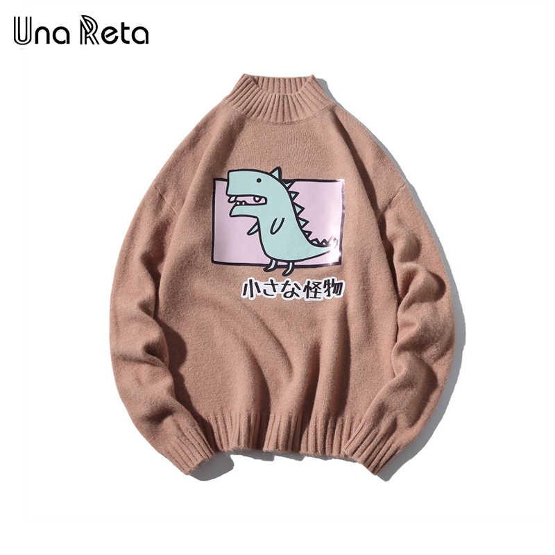 Уна Рета водолазка мужской свитер Новый Осень Зима принт Мультфильм пуловер мужской свитер Pull Homme Повседневный свободный свитер для мужчин