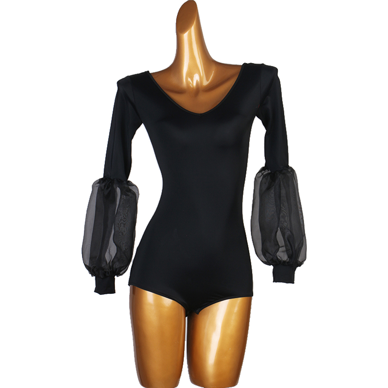 Black Ballroom Dance Tops Women Tango Waltz Standard Dance Rumba Salsa Practice Wear Ladies  Foxtrot Performance Clothing DC3921