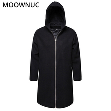 Mens Coats Fashion Woollen Overcoat Winter Autumn Male Long Business Smart Casual Thick Blends Brand Clothes MOOWNUC MWC
