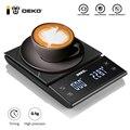 Портативные электронные весы для кофе DEKO с таймером, высокоточный светодиодный дисплей, бытовые приборы для измерения веса