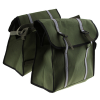 Army Green Saddle Bag Panniers Bags for Motorcycle Bicycle Bike, Large Capacity Saddlebags Tool Bag for Scooters