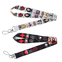 SP082 Grey's Anatomy Lanyards For keychain ID Card Mobile Phone USB Badge Holder Hang Rope Lariat Lanyard 1 pcs flyingbee love story lanyards for keys id card pass gym mobile phone usb badge holder hang rope lariat lanyard x0079