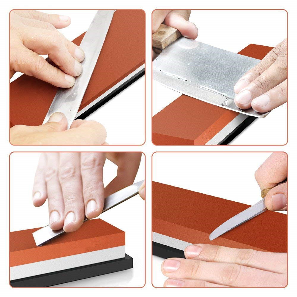Steel Kitchen Knife Sharpener Whetstone Tool Sharpening Stones Grinding Stone Water Stone 2 IN 1 240 400 800 1000 3000 6000grit in Sharpeners from Home Garden