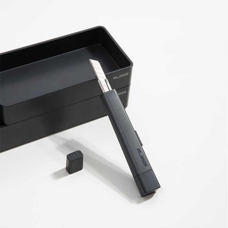 NUSIGN NS061 Portatile Creativo Utility Cutter Blocco Automatico Taglierina di Arte del Lavoro Utensili Da Taglio con Coperchio di Protezione