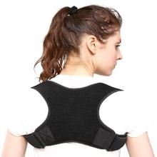 Горячая унисекс Защита спины оборудование Корректор осанки фиксатор для взрослых Регулируемый плечевой верх спины Поддержка Humpback коррекция пояса
