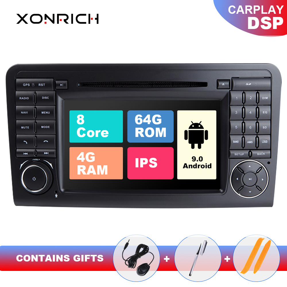 2 din Android 9.0 Auto DVD Player GPS FÜR BENZ <font><b>ML</b></font> <font><b>320</b></font>/<font><b>ML</b></font> 350/<font><b>W164</b></font> (2005-2012) GL Radio Multimedia Navigation kopf einheit IPS DSP 64GB image