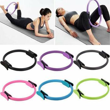 38cm joga Fitness pierścień do pilatesu kobiety dziewczęta koło magia podwójne ćwiczenia domowa siłownia trening sport schudnąć odporność na ciało 5 kolorów tanie i dobre opinie CN (pochodzenie) PLT-Circle