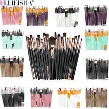Conjunto de escova de maquiagem profissional lábio olho maquiagem ferramentas beleza facial cosméticos fundação blush pincel cílios sombra pincéis conjunto