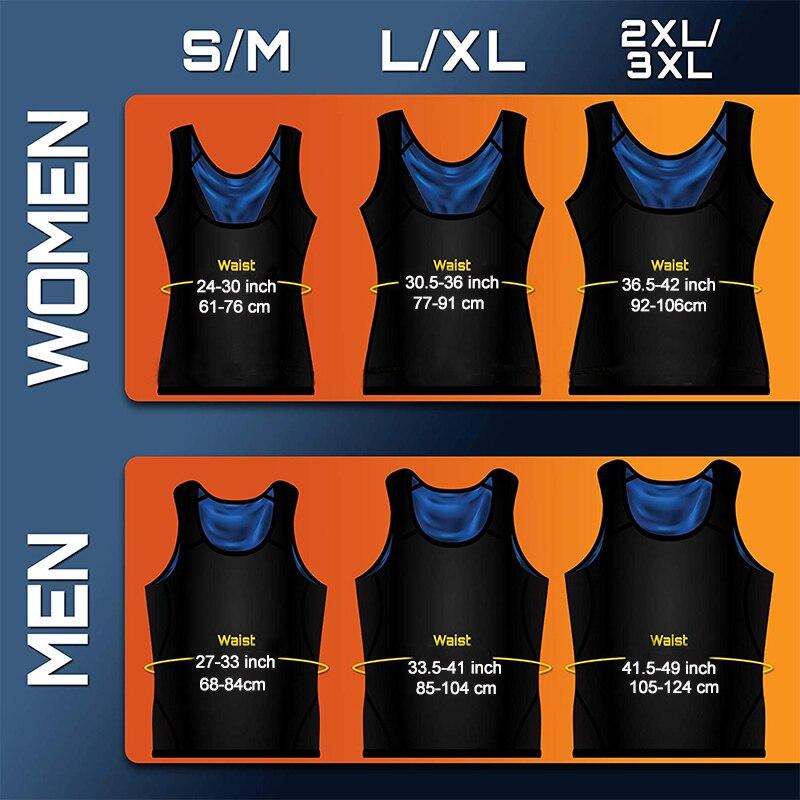 Body Shaper Sauna Vest Gym Top Sweat Shapers Men instantly Hot Sauna Effect Slims Fitness Vests Women Workout Sport Shirt Corset 3