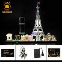 Kit d'éclairage LED d'éclairage pour Architecture Paris ensemble de lumière Compatible avec 21044 (non inclus le modèle)