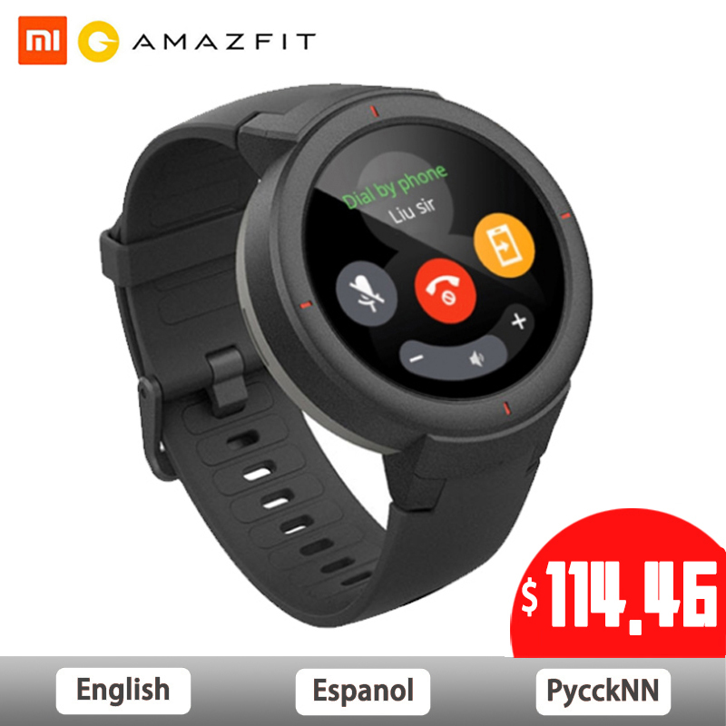 Huami Amazônia 3 À Beira Do Esporte Relógio Inteligente GPS à prova d' água Bluetooth Reprodução de Música Chamada Resposta Mensagem Push Monitor de Freqüência Cardíaca