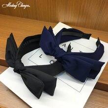 Модная повязка на голову с большим бантом для женщин и девочек