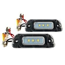 Juego de carcasas de luz LED de matrícula para Mercedes W164, W251, GL