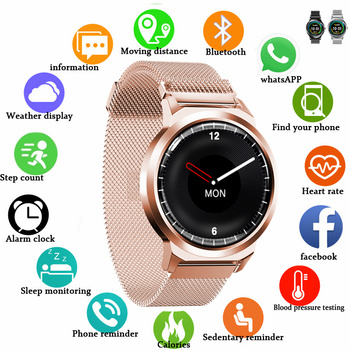 Smart Wristband Touch Bracelet Global Version 11.11 Menstrual Ovulation Period Heart Rate Blood Pressure Alarm Clock Smart Watch