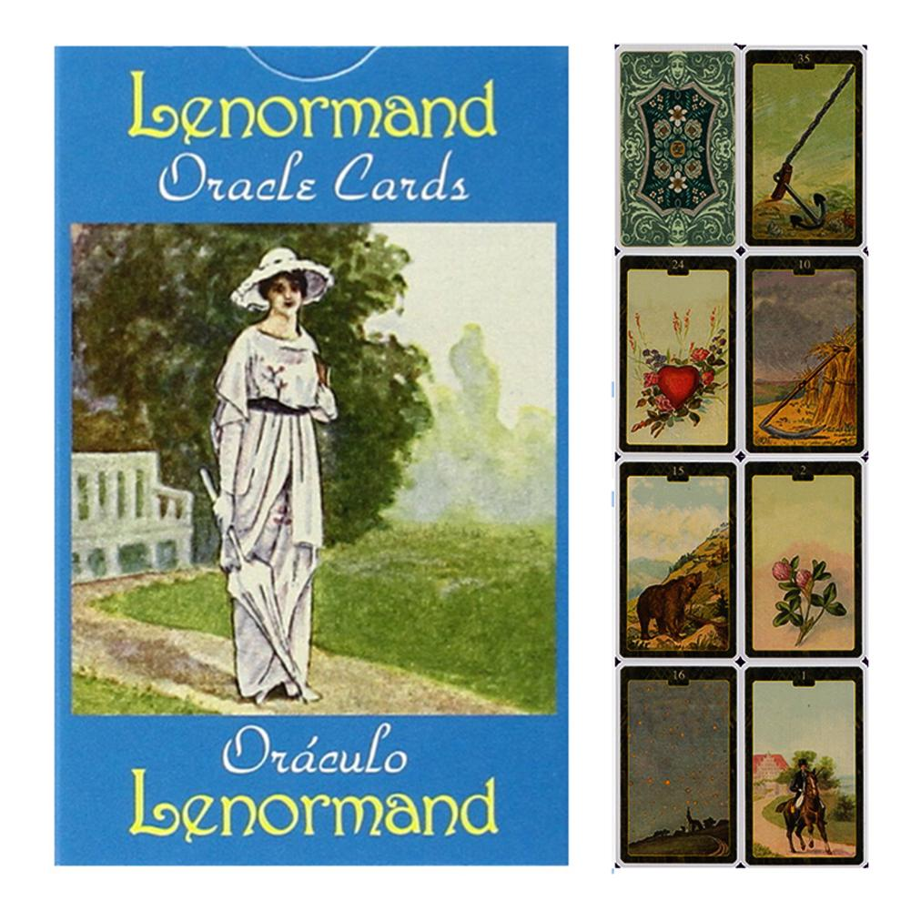 44 PCS Lenormand Oracle Cards Durable Fashionable Party Fun Game Tarot Cards Deck Board Games Family Party Playing Card Gifts