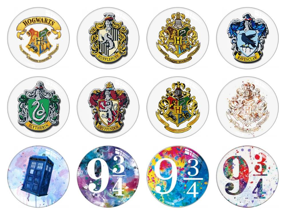 Round Handmade Potter Badge Photo Glass Cabochons 10mm 12mm 14mm 16mm 18mm 20mm 25mm 30mm Snap Button Jewelry