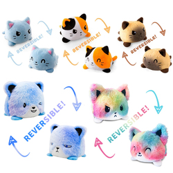 Reversible Flip Gatos Cartoon Peluches Double-sided Cat Stuffed Doll Soft Plush Octopus Toy For Children Baby Kids Birthday Gift