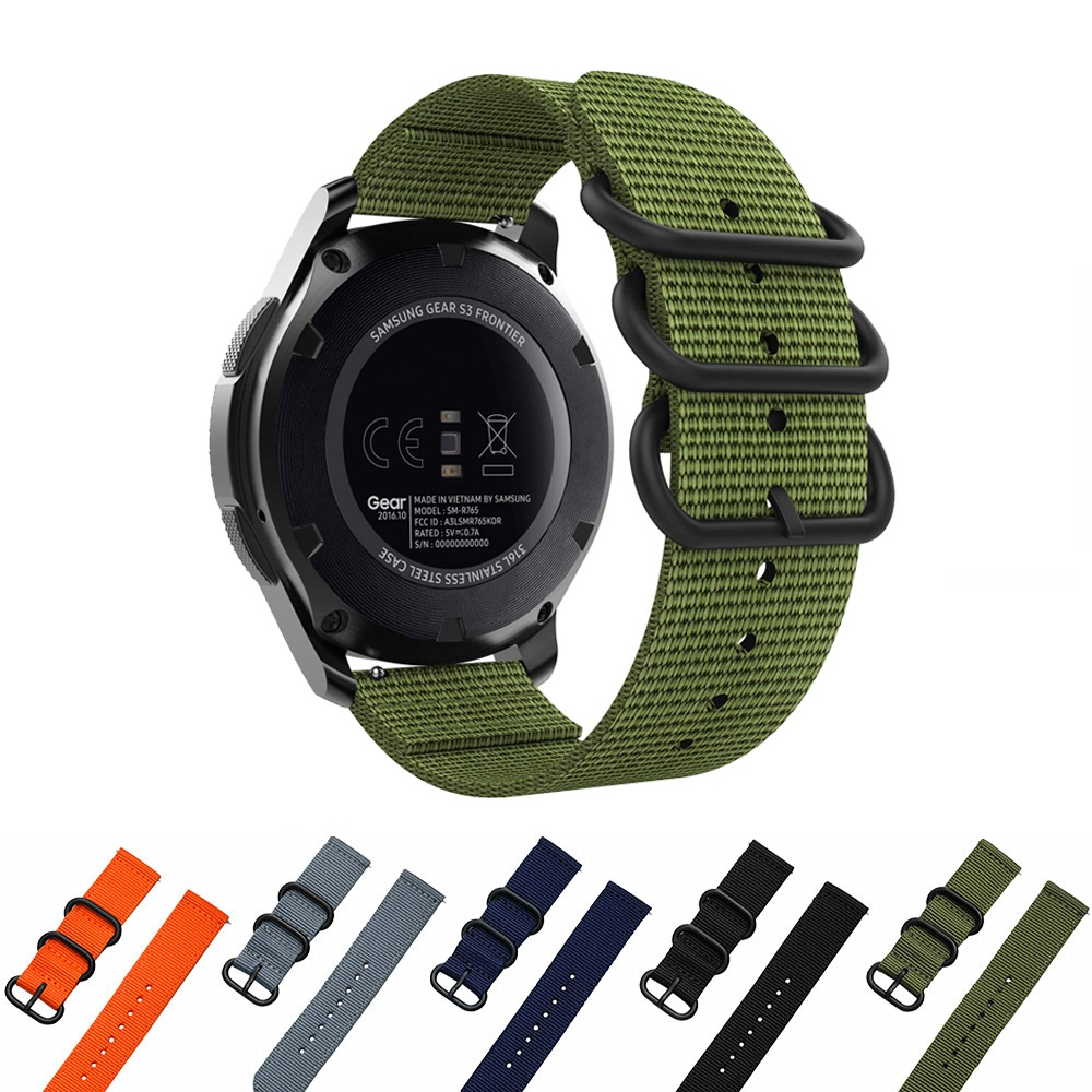 22mm Premium Nato Nylon Strap 3 Ring Watch Band For Garmin Approach S60 /D2 Delta PX /Fenix 5 Plus /Fenix 5/ Instinct Band