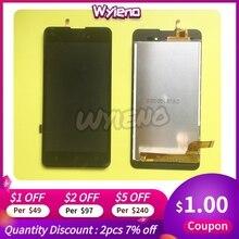 Wyieno BQ 5035 BQ5035 BQS5035 벨벳 LCD 디스플레이 화면 터치 스크린 디지타이저 센서 전체 어셈블리 + 추적