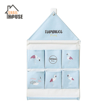 Snailhouse 6 Pockets House Shape  Wall Hanging Storage Bags Door Pouch Bedroom Home Office Organizer