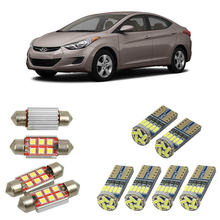 Interior led Car lights For Hyundai elantra saloon hd sedan xd hatchback bulbs for cars License Plate Light 6pc(China)