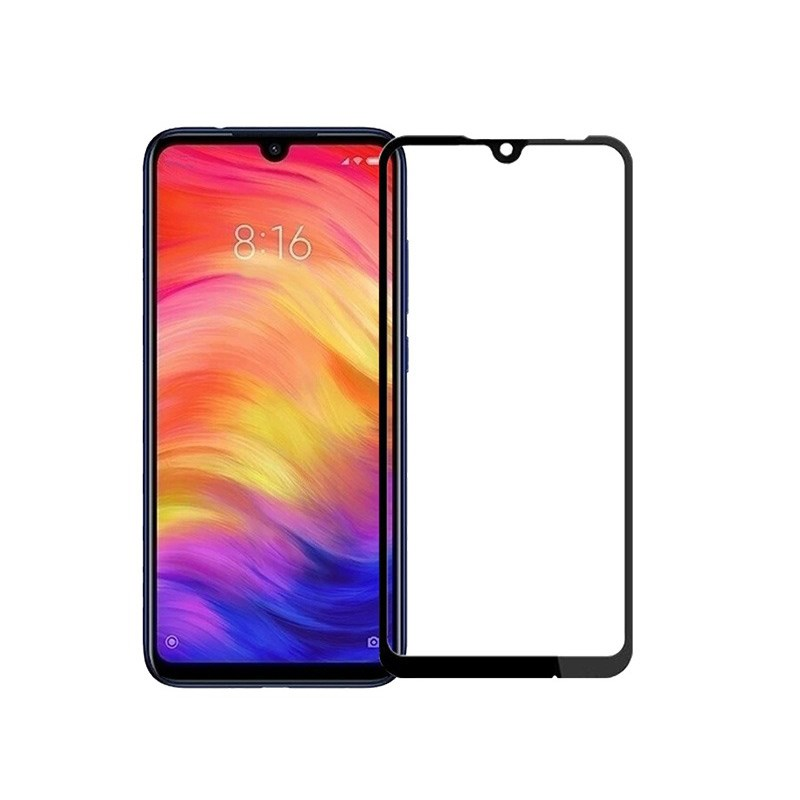 Protective Glass For Xiaomi Redmi 7 With Frame 9H 9D Full Glue Without Package
