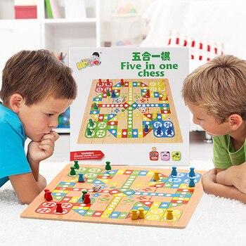1 Juego de juegos de fiesta para chico, juego de rompecabezas de ajedrez para vuelo clásico, juego de rompecabezas para niños, familia, Chico, juguetes para juegos de mesa