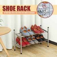 Simple Telescopic Shoe Rack Shoes Cabinet Iron Tube Easy Assemble Storage Home Organizer space saving Shoe Rack Hanger