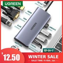 USB-концентратор 10 в 1, USB C на USB 3,0