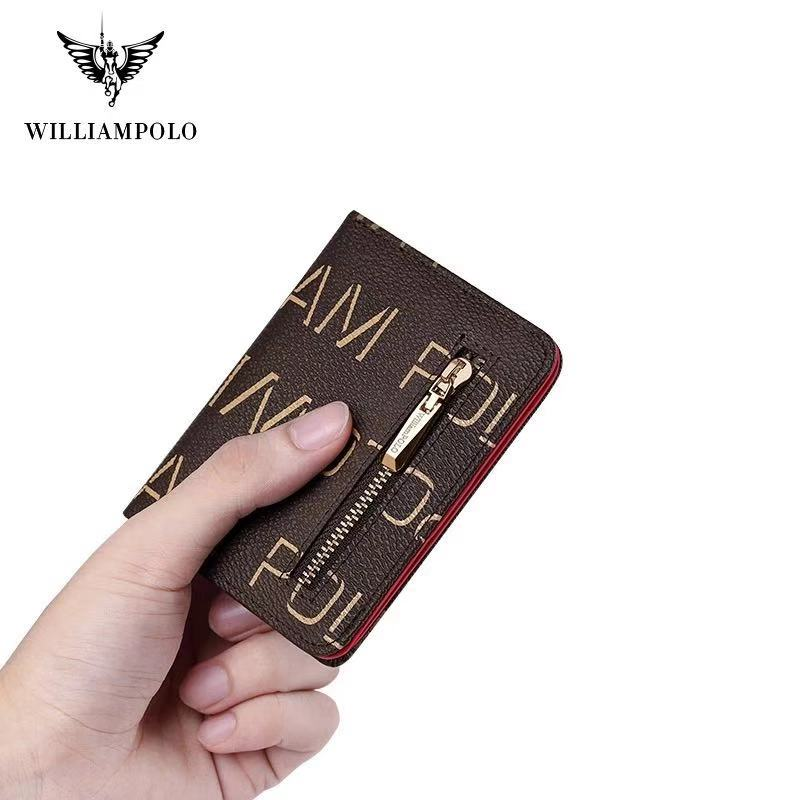 Williampolo Fashion New Arrival Slim Women Wallet Cash Purse Zipper Pocket for Coins Card Holder Wallet #191446