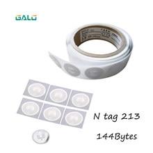 Ntag213 10 pces nfc tag etiqueta 13.56 mhz etiqueta rfid ntag 213 universal chave token tags patruha nxp mifare ultraleve